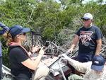 Jessica Lee talking to Everglades angler David Rose by Jennifer S. Rehage