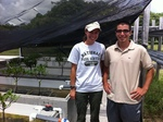 Ph.D. graduate student, Shelby Servais and REU, Julio Pachon conducted collaborative research in the wetland mesocosms during summer 2013.
