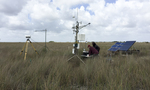 Dr. Greg Starr and Dr. Justin Cummings working on the eddy covariance and meteorological tower near TS/Ph-1