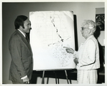 Charles Perry and Marjory Stoneman Douglas at Friends of the Everglades Presentation on April 4, 1973 by Florida International University