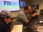 Ruben Almaguer in the Emergency Operations Center by Florida International University