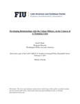 Developing Relationships with the Cuban Military, in the Context of a Changing Cuba