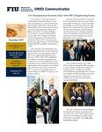 ORED Communicator - November 2017 by Office of Research and Economic Development, Florida International University