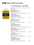 ORED Communicator - June 2018 by Office of Research and Economic Development, Florida International University