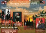 Alternative Theatre Festival 2011 postcard by Department of Theatre, Florida International University