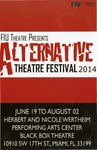 Alternative Theatre Festival 2014 postcard by Department of Theatre, Florida International University