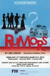 Rumors postcard by Department of Theatre, Florida International University