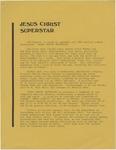 Jesus Christ Superstar press release